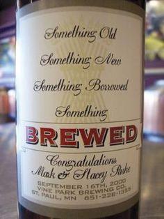 Wedding Beer Label - weddingsabeautiful.com