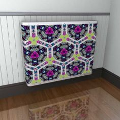If geometrics are more your style - opt for this option from our YOYO radiator cover range - another Emma Gillett classic