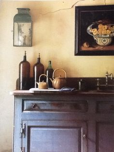 From Ros Byam Shaw's Perfect English Cottage - the wall lantern