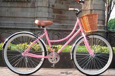 Bicicleta Vintage (Bike Retrô) Rosa 26