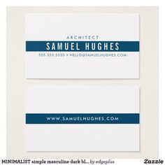 MINIMALIST simple masculine dark blue navy stripe Business Card  #zazzle #zazzlemade #zazzleproduct #bossbabe #businesscards #professional #businessstationery #interiordesign #girlboss #minimalist #minimaldesign