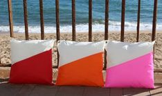Home Decor Cushion, Sailing Cushion Cover, Outdoor Decorative Pillow, Waterproof Cushion, Terrace Pillow, Red Boat Pillow 16 x 16 in Our articles are made from the fabric used for boat sails (Spinnaker). We're artisans and we have the workshop in Barcelona. Our collection is inspired by the colors Blue Cushions, Pink Pillows, Waterproof Cushions, Environmental Pollution, Nautical Pillows, Dry Well, Sailing Outfit, Outdoor Spaces, Terrace