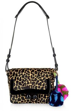 HOUSE OF HOLLAND s16 - Animal Print Calf Hair Shoulder Bag