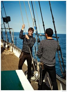 On Board: Vincent LaCrocq + More Model Nautical Styles for GQ China