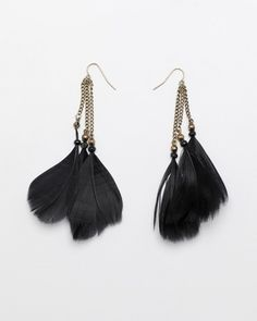I don't own any feather earrings..... yet.