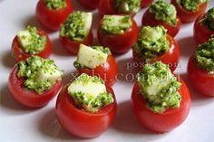помидоры черри с моцареллой