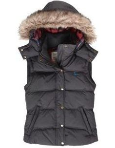 A classic fit faux fur trim hooded gilet.  Perfect for the cooler weather and still stylish.