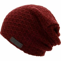 Hit the slopes with a new piece of warm head gear with the Neff girls Grams maroon slouch beanie. Warm up to the textured knit double layer construction for warmth, maroon colorway, Neff brand tag on the front, and a slouch fit for a more relaxed look.