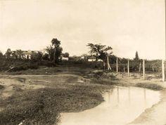 1914 - Ribeirão Ipiranga. Ao fundo na foto temos o Museu do Ipiranga e à esquerda o Instituto Bom Pastor (atualmente inexistente).