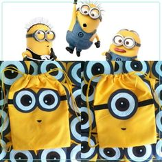 Love the minions for a Birthday party Despicable Me Party, Minions Despicable Me, Minion Party, My Minion, Minion Bag, Minion Theme, Minion Birthday, Candy Bags, Kids Bags