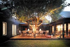 great deck with the tree!!
