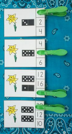 FREE!!!! Fun Spring Math FREEBIE for Your Little Learners!    #spring  #daffodils  #KampKindergarten #dominoes #free  #freebie   #NumeralsTo20   https://www.teacherspayteachers.com/Product/Spring-Numerals-to-20-FREEBIE-2449477