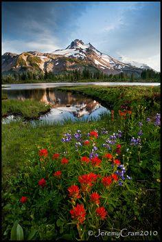 Mount Jefferson, Russell Lake, Oregon