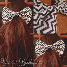 Navy Blue Squiggly Bow. Want it? Pin it. CLICK IT!