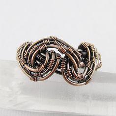 Ring | Gailavira Designs.  Oxidized copper.