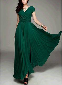 Women's Jade Green Color Chiffon Long Skirt  circumference Long Dress maxi skirt maxi Dress Party Wedding Prom Dress  s,m,L,XL,XXL