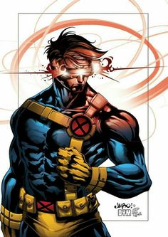 My Outer Geek: Incredible X-Men Art by Jebedai Couture Cyclops by Jimbo and Denis Dym Freitas. Colors by Riccardo Rullo Comic Book Characters, Comic Book Heroes, Marvel Characters, Comic Character, Comic Books Art, Comic Art, Marvel Villains, Marvel Girls, Marvel X