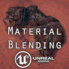 Material Blending UE4, Victor A. on ArtStation at https://www.artstation.com/artwork/9zRna