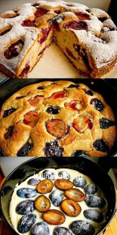 All Time Easy Cake : Divine Pie. You will fall in love with him . Baking Recipes, Cake Recipes, Dessert Recipes, Delicious Desserts, Yummy Food, Easy Eat, Sweet Pastries, Pastry And Bakery, Russian Recipes