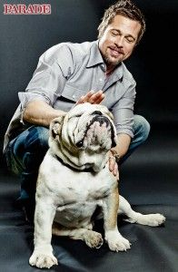 Brad Pitt and his dog Jacques - I had no idea he had a dog.
