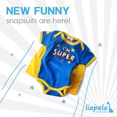 Hot product alert! Fun new onesies (US)$24.99 available at Liapela.com. Wry Baby Super Snapsuits™ are the highest-quality hero garments on the market. Like on Instagram @LiapelaModernBaby
