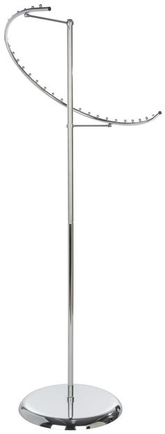 $49.50-corner of my part of the master closet Spiral Clothing Rack with 29 Ball Stop Arm - Chrome