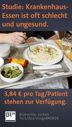 Das #Essen in deutschen #Kliniken hat offenbar zu Recht keinen guten Ruf - das zeigt eine #Studie des Deutschen Krankenhausinstituts. Eine Ursache ist laut Experten, dass für die #Verpflegung der #Patienten immer weniger Geld ausgegeben wird. Curry, Ethnic Recipes, Money, Health, Food Food, Curries