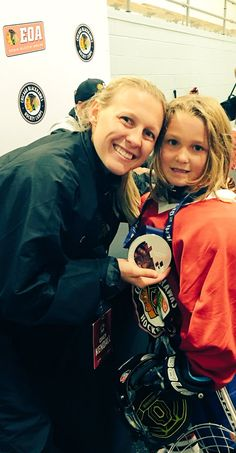 4x World Champion and USA Hockey Olympian Kendall Coyne brought her silver medal to camp!