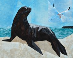 Free sea lion paper pieced pattern from Silver Linings    @Hannah Strouth