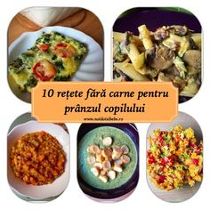 După articolul în care v-am propus 10 reţete pentru micul dejun al copilului (şi nu numai), mai jos veţi găsi 10 reţete fără carne potrivite pentru prânz. Ştiţi deja că nu suntem vegetarieni :), însă încerc să avem în meniu o zi pe săpămână cu un prânz fără carne, vegetal, şi o zi în care să consumăm exclusiv vegetale. Kid Friendly Meals, Baby Food Recipes, Acai Bowl, Sandwiches, Vegan, Vegetables, Breakfast, Ethnic Recipes, Health
