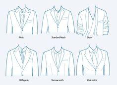 Lapel options for your custom suit   Trends   Pinterest   Suits