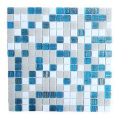 "Found it at Wayfair - Bon Appetit 0.75"" x 0.75"" Glass Mosaic Tile in Turquoise Splash"