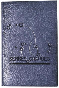 Pierre Legrain, upper cover of binding decorated with circles and curved lines, executed by René Kieffer, on Maurice Maeterlinck, Serres chaudes (Bruxelles: P. Lacomblez; Paris: Calmann-Lévy, 1910).
