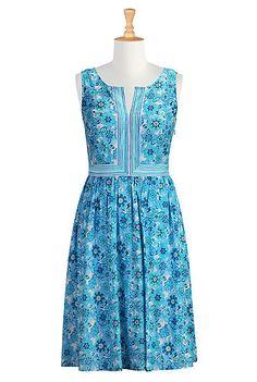 b73db1b2fe4c2 #eshakti #dresses #floralprintdress #plussizefashion #spring #summer  #sundress #femininedresses