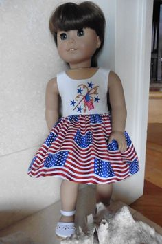 Patriotic Red White and Blue Sun Dress for American by laney05