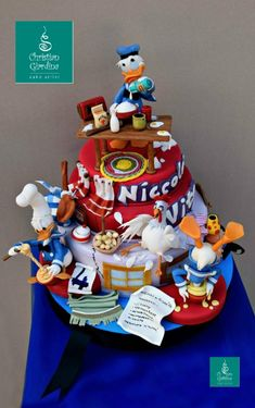 Donald Duck's Kitchen Disaster made by Christian Giardina Cake Artist