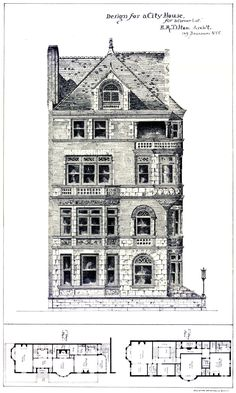 A Gentleman's Prospect, archimaps: Design for an urban residence on a...