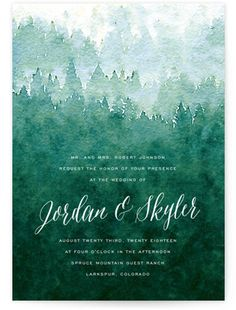 Forest Wedding Invitations | Minted