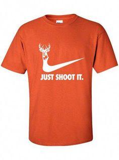 852b5309 just shoot it hunting buck doe deer moose funny US dope t-shirt tee shirt