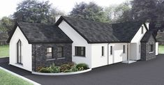Dormer House, Dormer Bungalow, Bungalow Floor Plans, Bungalow Renovation, Bungalow Ideas, Modern Bungalow Exterior, Bungalow House Design, Bungalow Bedroom, Bungalow Extensions