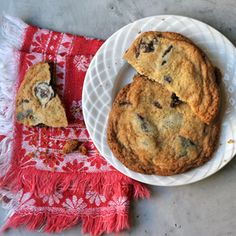 Honey Chocolate-Chip Cookies-- This recipe was developed by Saveur.com editor Helen Rosner, after she found herself snowed in with no brown sugar. A deep, spicy honey like sourwood works best, though any honey will do.