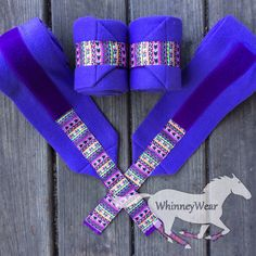 Purple/Aztec trimmed polo wraps by WhinneyWear   www.whinneywear.com