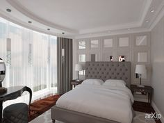 Дизайн интерьера спальни от Kucherenko Design, Киев: интерьер, зd визуализация, квартира, дом, спальня, английский, 20 - 30 м2, интерьер #interiordesign #3dvisualization #apartment #house #bedroom #dormitory #bedchamber #dorm #roost #english #british #anglican #royal #20_30m2 #interior arXip.com
