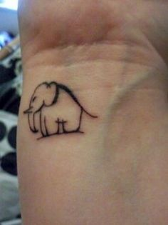 elephant tattoo I love it =) <3