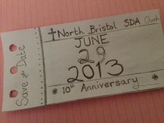 First sketch for save the date church Anniversary.
