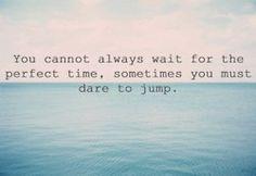 Dare to jump! #risk #adventure