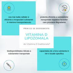 Tehnologia lipozomala  a permis dezvoltarea unui nou tip de supliment alimentar: Vitamina D3 invelita intr-un strat lipidic dublu al lipozomilor, care sa o protejeze de mediul dur al tractului gastric si sa ii permita un transport eficient catre celule si o foarte buna absorbtie. Structura membranei lipozomale care protejeaza vitamina D este foarte similara cu cea a celulelor, astfel facilitandu-se livrarea eficienta si eliberarea controlata a nutrientului in celule. Chart, Vitamin D