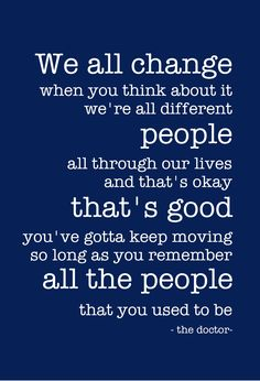 Amazing words for The Eleventh Doctor to sign off with