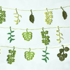 Crocheted Leaf Garland