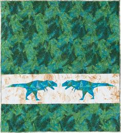 T Rex dinosaur baby quilt/block pattern by Flying Parrot Quilts